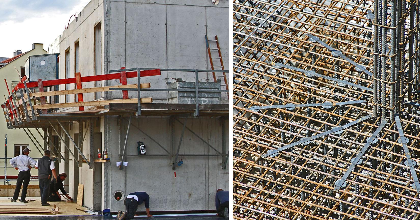 Die fertige Betonoberfläche verdeckt den Aufwand der Herstellung