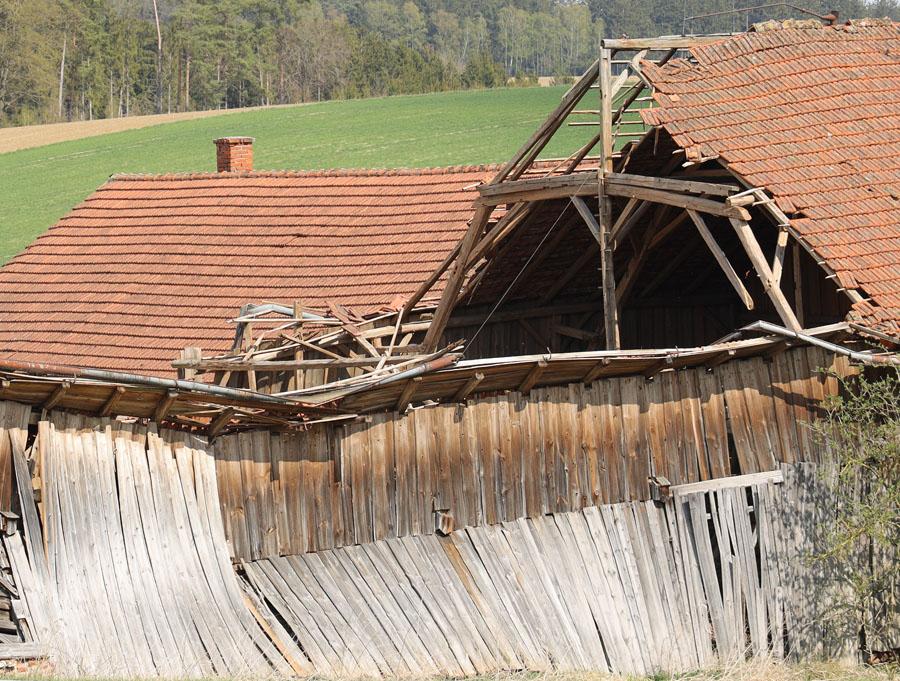 Teileinsturz eines Gebäudes