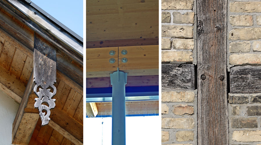 Drei Details aus dem Holzbau