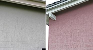 Risse in Fassade zeichnen Mauerwerk nach