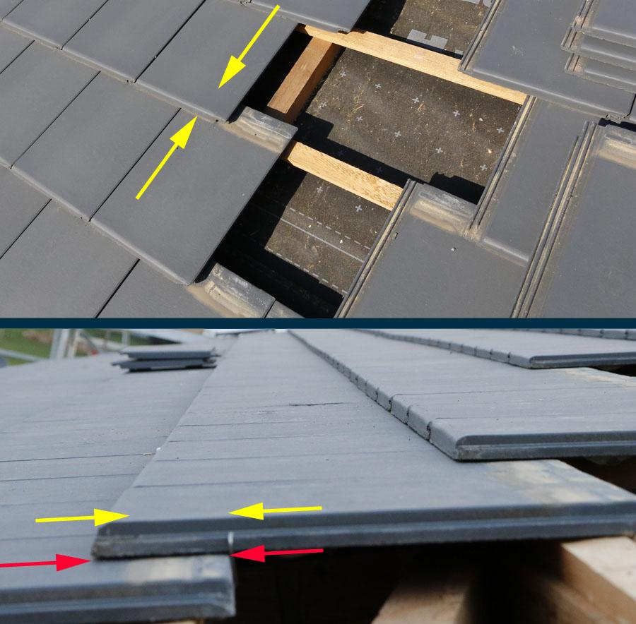 Undichtes Dach: Unzureichende Überdeckung